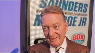 FRANK WARREN TALKS BILLY JOE SAUNDERS v MONROE JR, THE EUBANKS, WBSS, YARDE & MAYWEATHER v McGREGOR,
