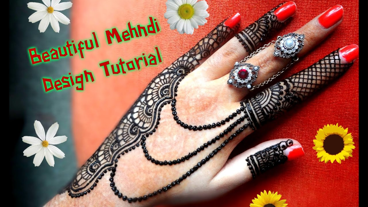 how to apply easy simple jewellery inspired henna mehndi