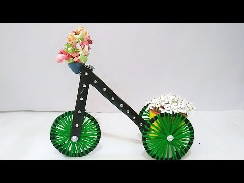 DIY||Bicycle Using Bangles at Home//Bangles craft//Best Out of Waste..!