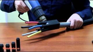 Термоусаживаемая перчатка Woer TCT CB - разделка высоковольтного кабеля