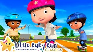How to Skateboard Song +More Nursery Rhymes and Kids Songs - ABCs and 123s | Little Baby Bum