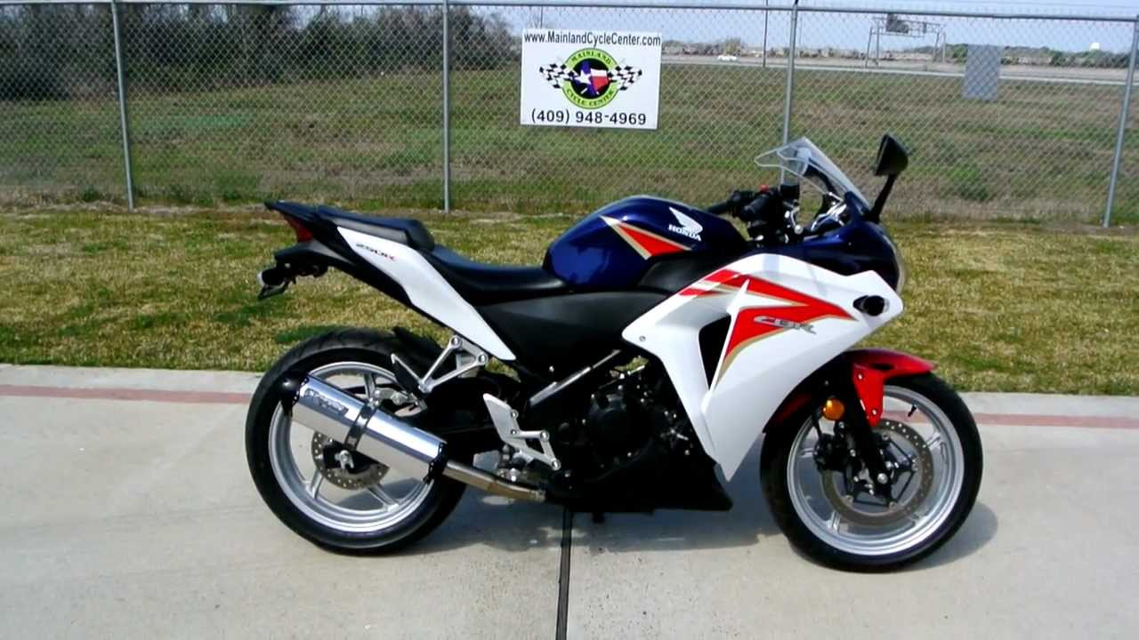 Review: 2012 Honda CBR250R Red White And Red Blue   YouTube