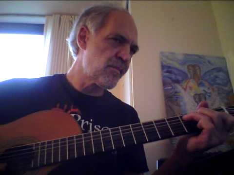 Dennis Sobin plays SPANISH HARLEM on guitar at Prison Art Gallery, Washington, DC