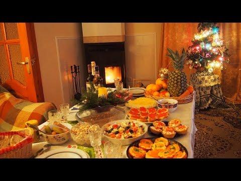 Новогодний стол.Любимые салаты,что делаю каждый год.Рецепт  Новогоднего салата