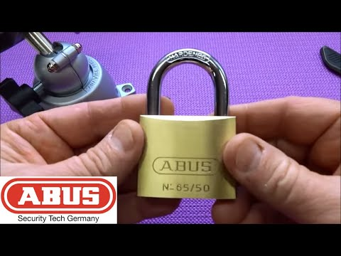 (444) Abus 65/50 Picked and Milled Open (Game Changer!)