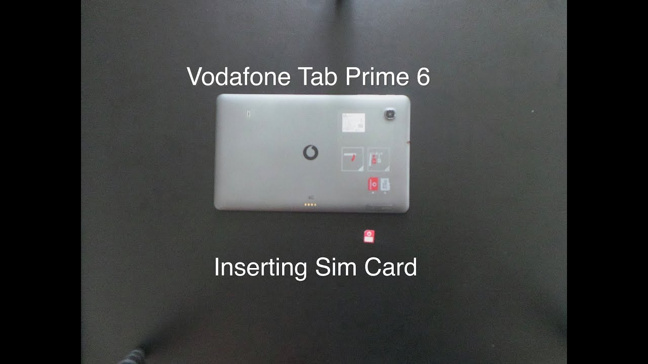 How To Cancel Vodafone Contract >> How to put sim card in Vodafone tab prime 6 - YouTube