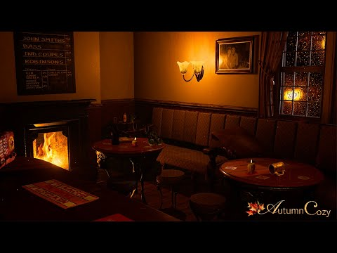COZY PUB AMBIENCE: Rain Sounds, Soft Chatter, Rain, Creaking