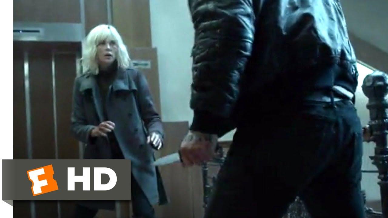Atomica Escenas Porno atomic blonde (2017) - savage stairwell fight scene (5/10) | movieclips