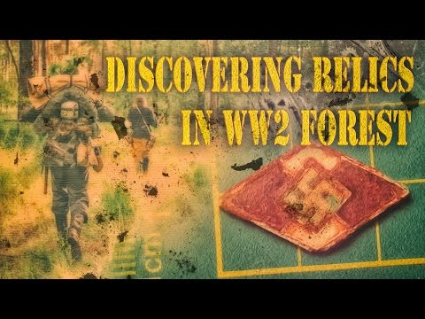 Metal detecting relics in a ww2 forest. War decorations, silver coins
