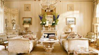 Впечатляющий Французский Стиль Дизайна Гостиной