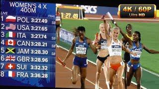Women's 4x400m FINAL World Relays  Yokohama 2019 4K