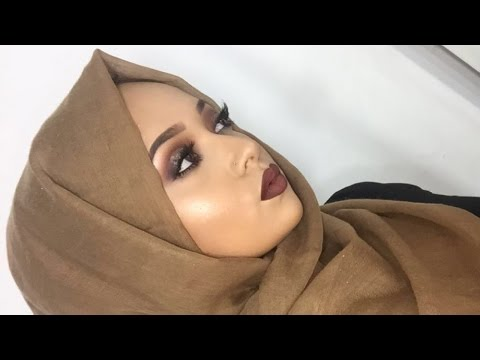 My Everyday Hijab Tutorial + Matching Glowing Glam Makeup Tutorial