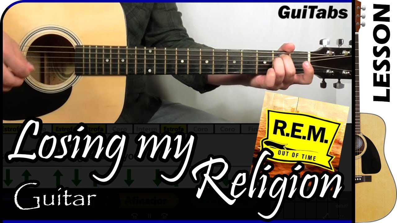 Losing My Religion Rem Acoustic Guitar Lesson Easy T