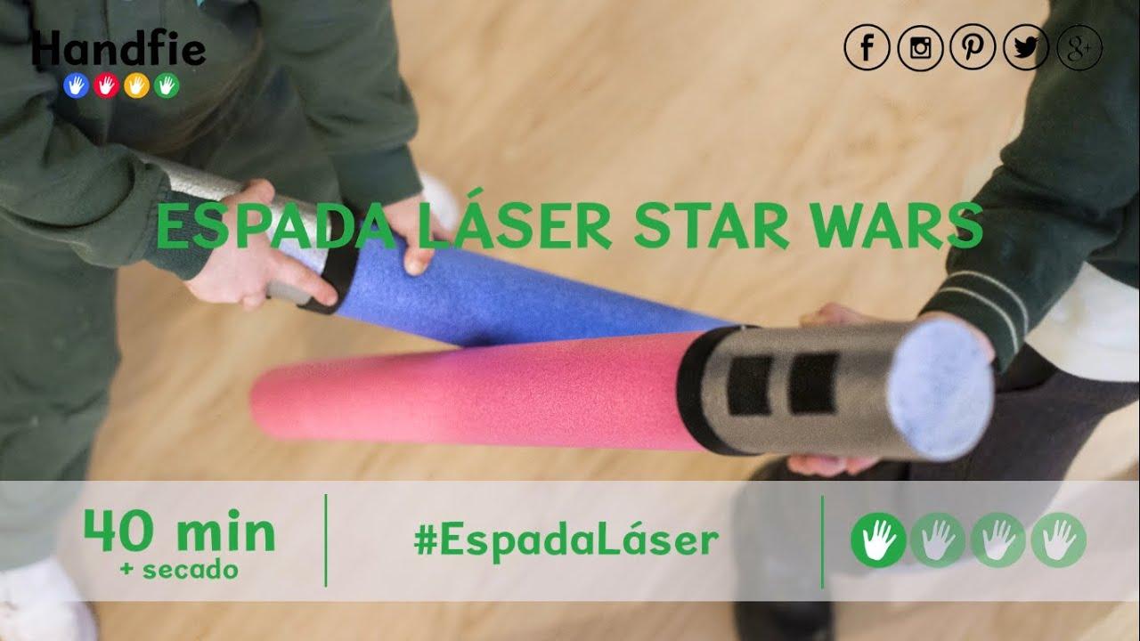Worksheet. Cmo hacer una espada lser de Star Wars  Handfie DIY  YouTube