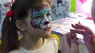 Ванесса  КОШКА!Видео для детей АКВАГРИМ Рисунки на лице! AKVAGRIM Vanessa Cat