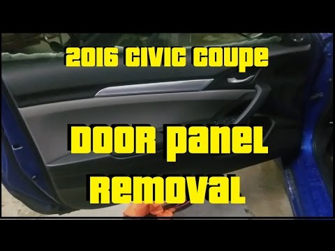 Door Panel Removal   2016 Honda Civic Coupe