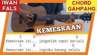 Chord Gampang KEMESRAAN - IWAN FALS | Tutorial Kunci Gitar Mudah di Mengerti Pemula