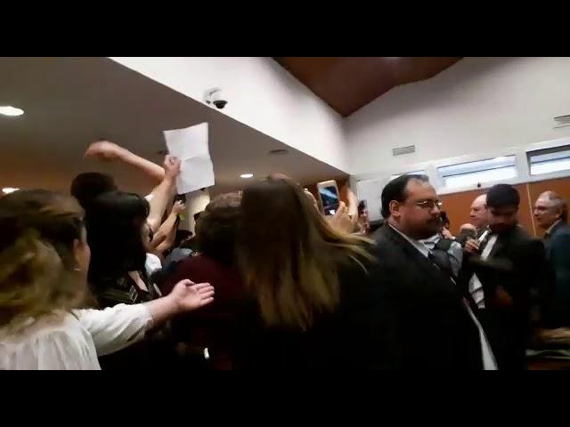 Incidentes lectura condena a Ricardo Lona I