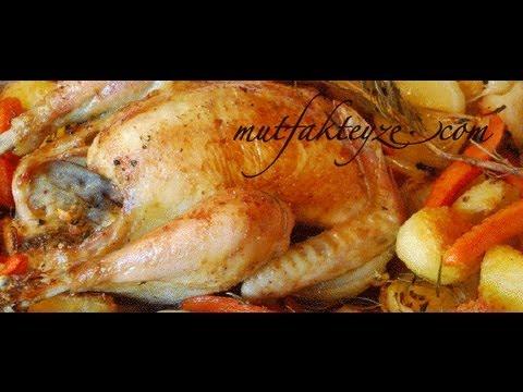 fırında sebzeli tavuk tarifi - YouTube