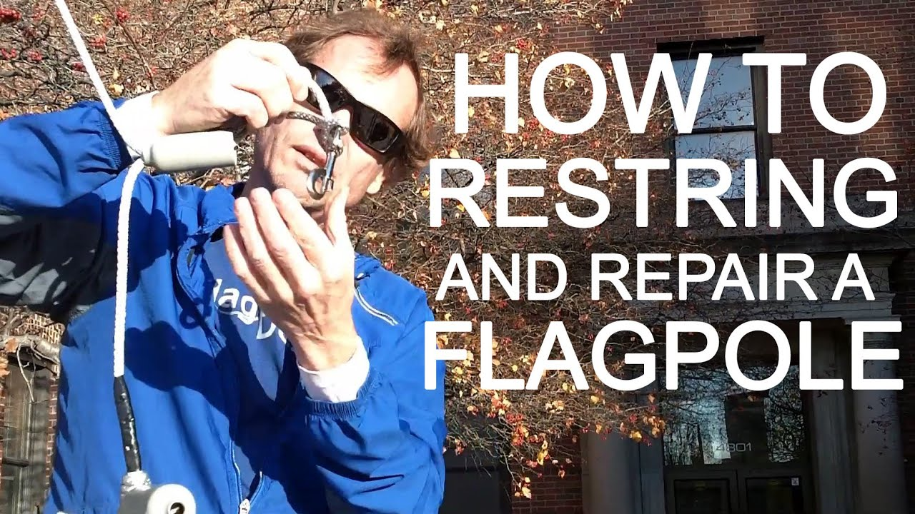 flagdesk com how to replace flag pole rope proper knot and flag