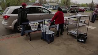 Coronavirus in Oklahoma: Students and families pick up meals