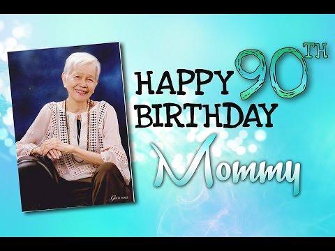 Mommys 90th Birthday Slideshow and  Presentation