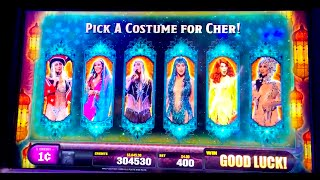 "FIRST LOOK! NEW ""CHER"" Slot (3 Bonuses) DEMO @ G2E & SG"