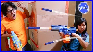 Baixar Box Fort Maze Ultimate Nerf Battle Challenge ! Boys Vs. Girls