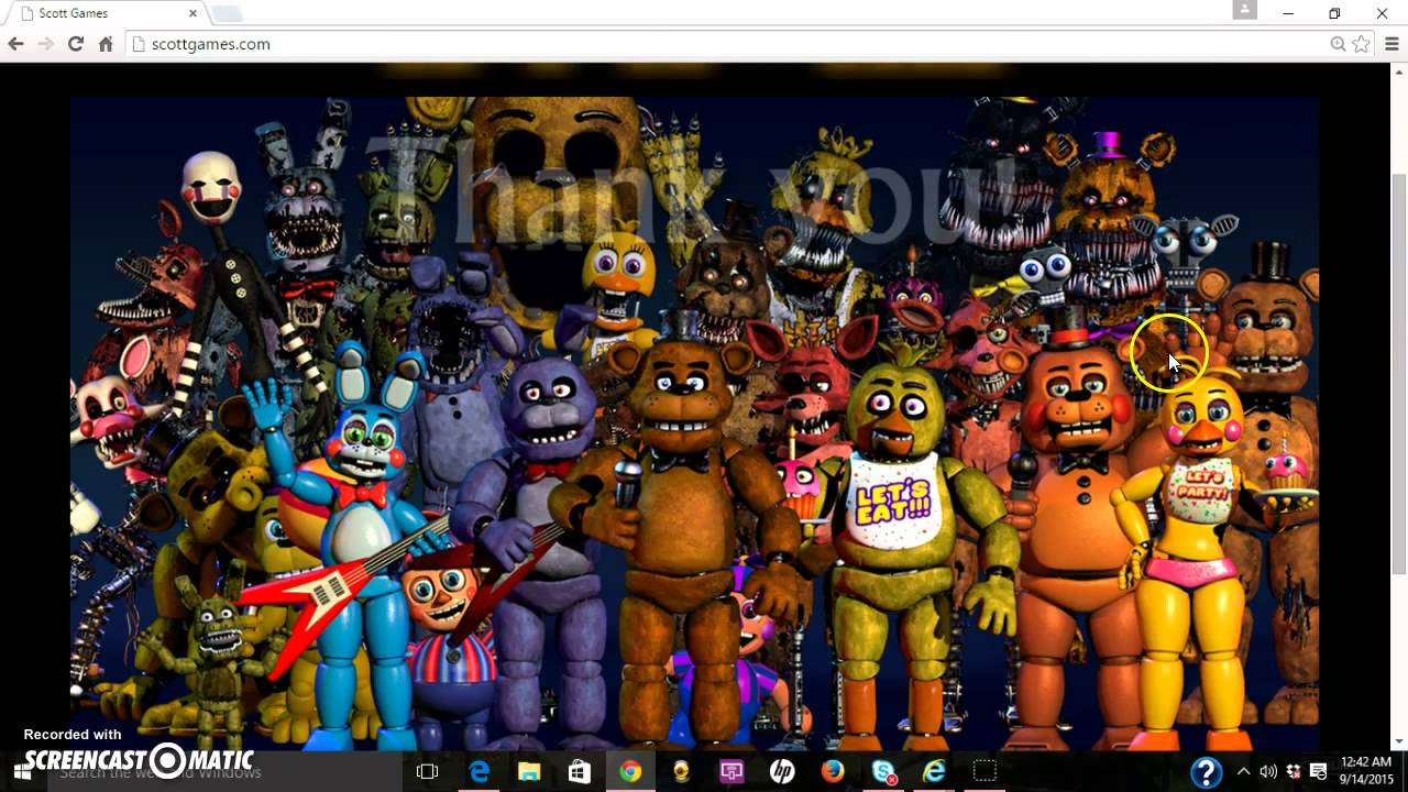 The new thank you fnaf wallpaper review youtube - Wallpaper fnaf hd ...