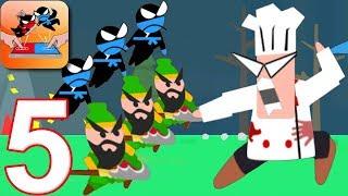 JUMPING NINJA BATTLE - Walkthrough Gameplay Part 5 - ANGRY-CHEF (Android Games)