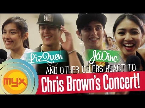 LizQuen, JaDine and more celebs had a blast at Chris Browns Concert!