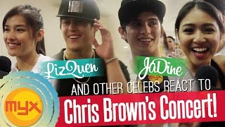 LizQuen, JaDine and more celebs had a blast at Chris Brown's Concert!