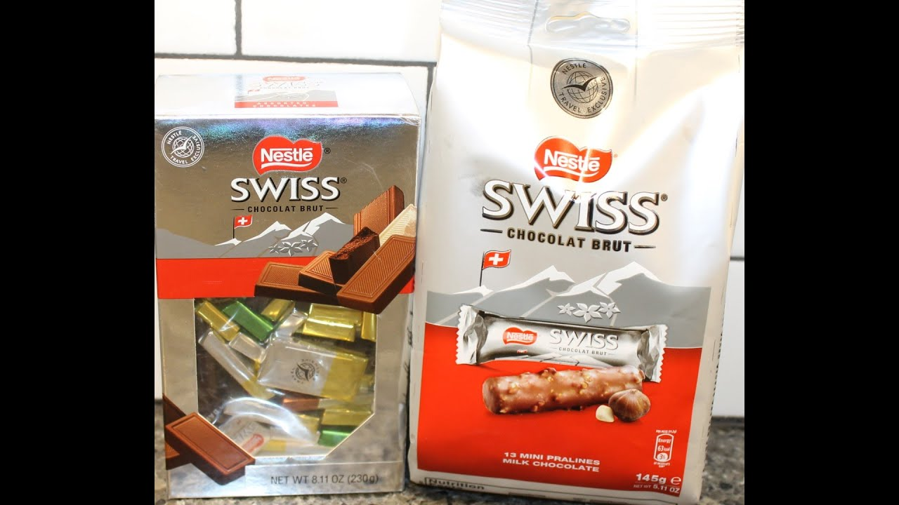 Nestle Swiss Chocolates: Hazelnut, Praline, Milk, White & Dark ...