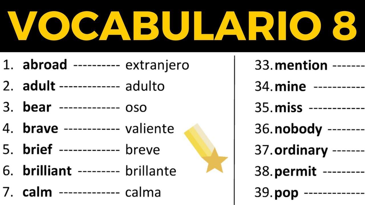 Las 100 Palabras Más Usadas En Inglés Vocabulario En Inglés Con
