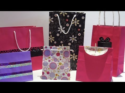 How to Make a Custom Sized Gift Bag - DIY Easy Paper Gift Bag