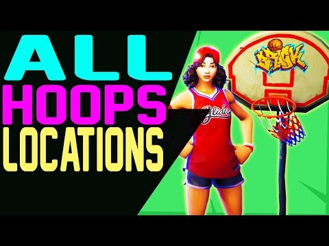 All BASKETBALL COURTS LOCATIONS In Fortnite - SCORE A BASKET ON DIFFERENT HOOPS