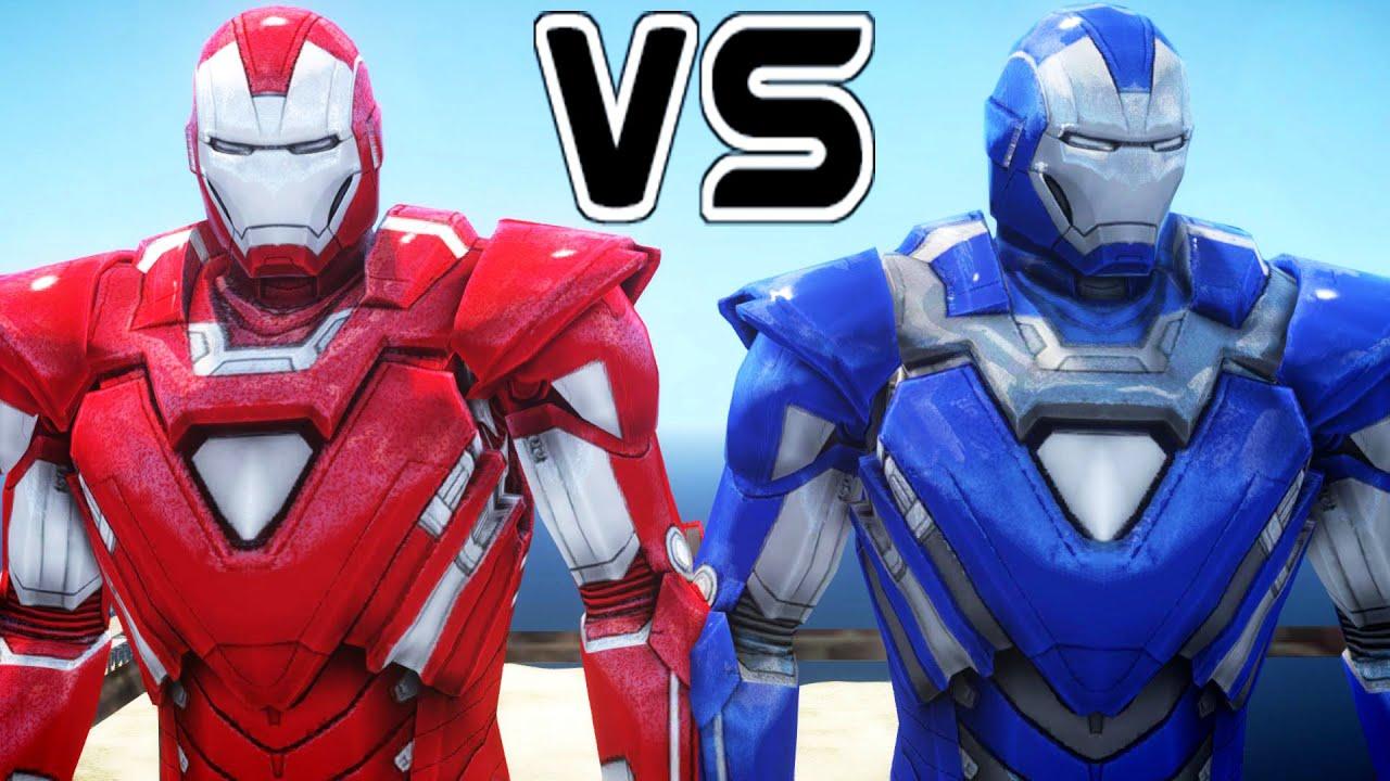 iron man vs iron man - silver centurion vs blue steel - youtube