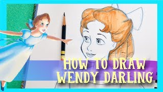 How to Draw WENDY DARLING from Disney