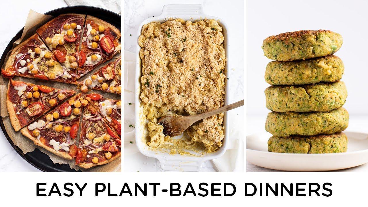 EASY PLANT BASED DINNERS ‣‣ weeknight dinner ideas