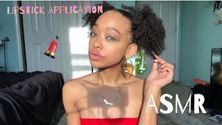 ASMR | Lipstick Application | Slight Inaudible | Tapping | Mouth Sounds