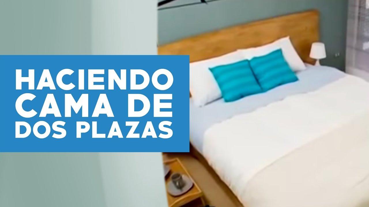 Cómo hacer una cama de dos plazas? - YouTube