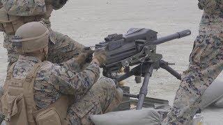 40밀리 유탄을 분당 400발 고속으로 발사하는 Mk19 고속 유탄기관총