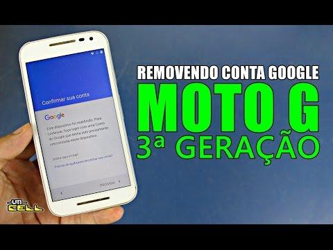 Removendo conta Google do Moto G 3ª geração (Todos) #UTICell