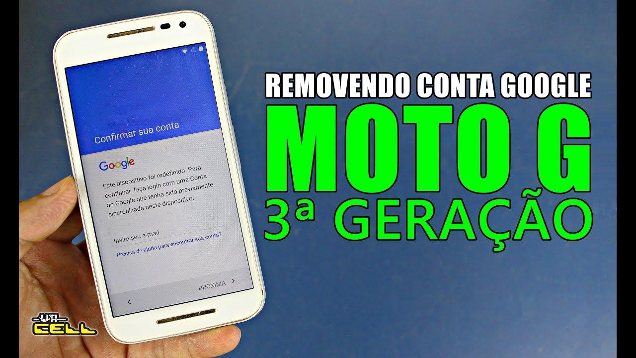 Remover Conta Google Moto G3 - Sem PC - Fácil - SOLUÇÃO!