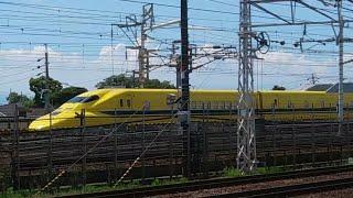 【ドクターイエロー!】923系T4編成 下り検測 名鉄栄生駅付近通過