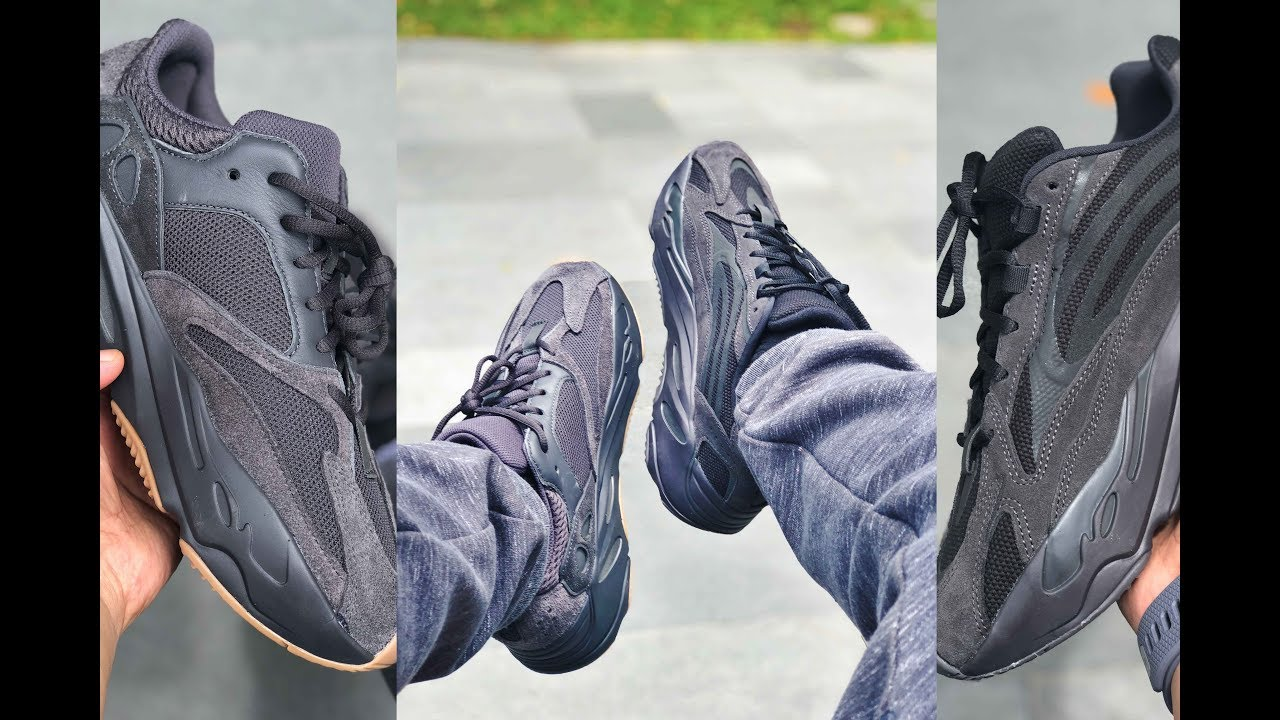 new concept 647e5 3a5b6 Adidas YEEZY 700 V1 UTILITY BLACK vs YEEZY 700 V2 VANTA Review and On-Feet