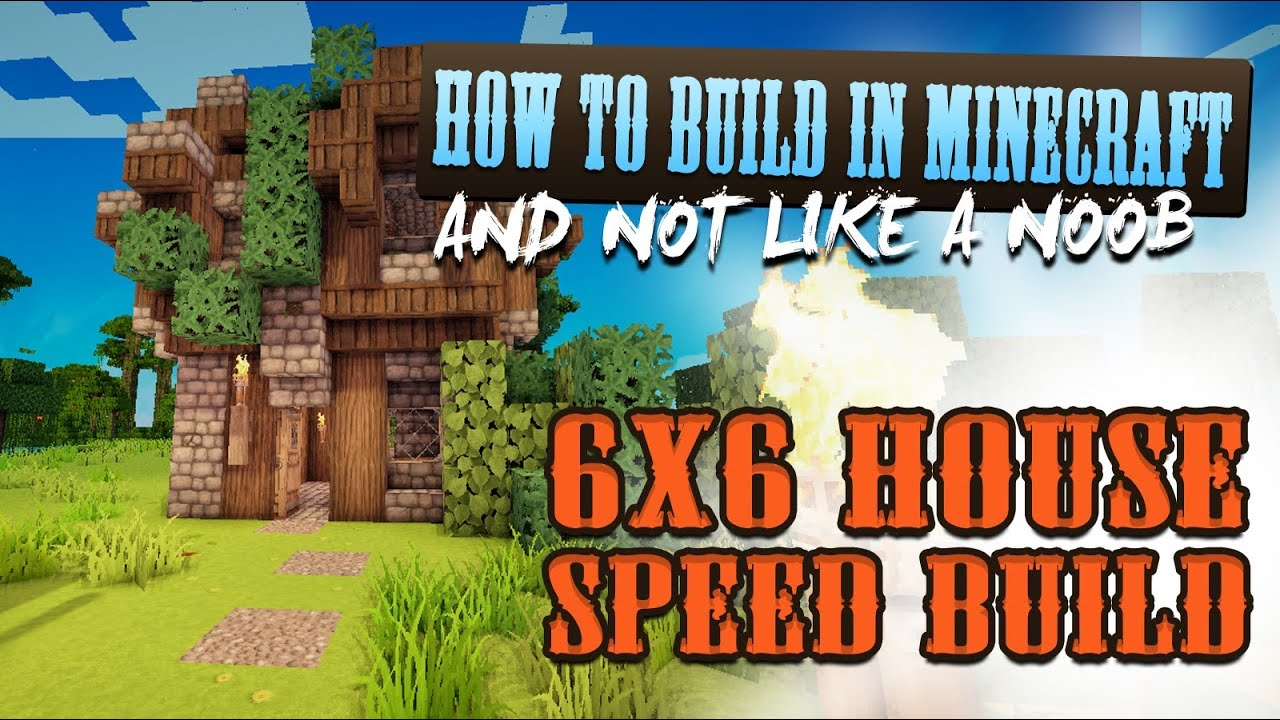 6x6 House Speed Build Minecraft Building Tutorials
