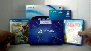 Unboxing PS Vita (Amazon Bundle plus Uncharted)