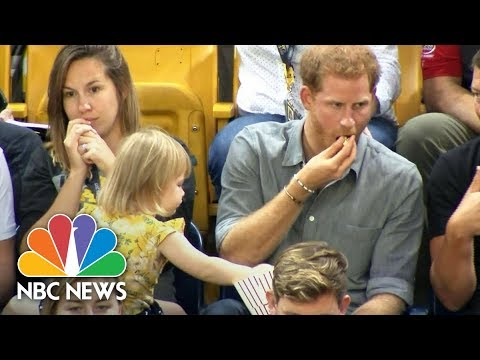 Cute Toddler Emily Henson Steals Prince Harry's Popcorn At An Invictus Games Event   NBC News