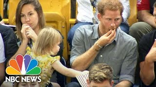 Cute Toddler Emily Henson Steals Prince Harry's Popcorn At An Invictus Games Event | NBC News
